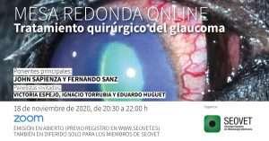 Tratamiento quirúrgico del glaucoma. Mesa redonda online @ online